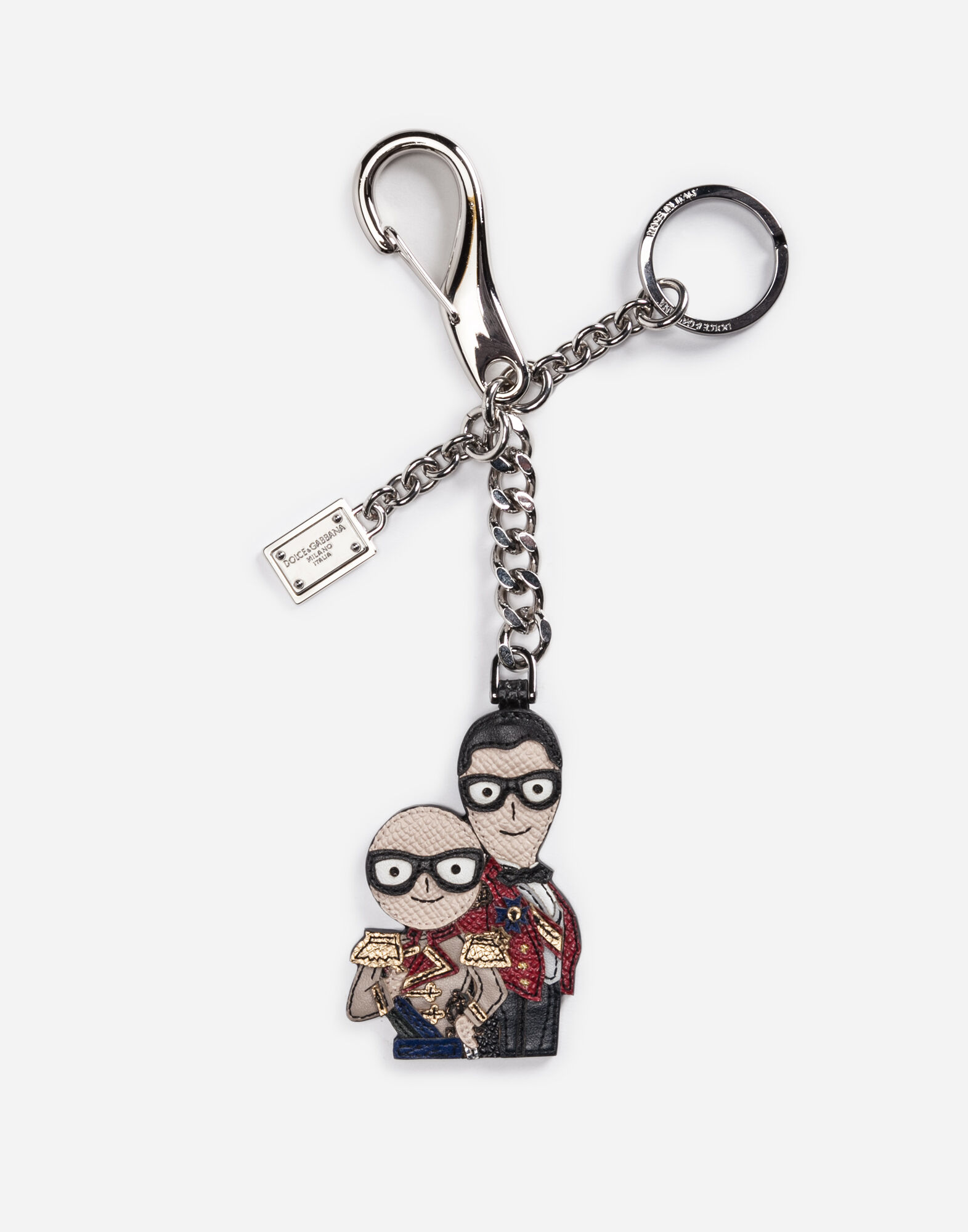 KEYRING WITH DESIGNERS' CHARM