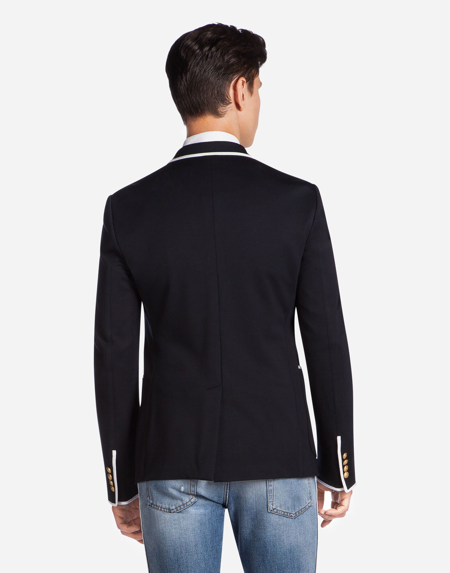 BLAZER IN JERSEY WITH BORDER