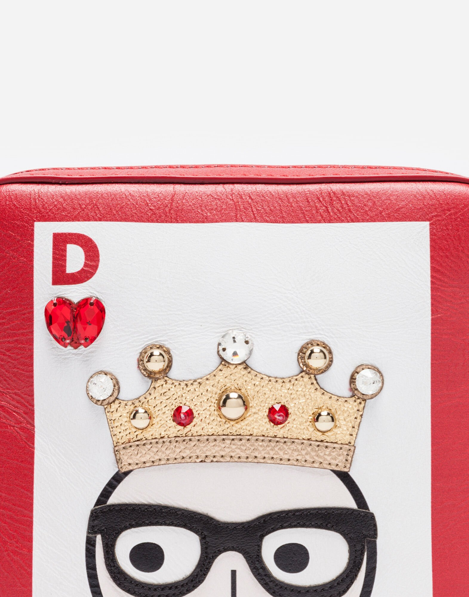 Dolce&Gabbana PRINTED LEATHER CROSS-BODY BAG WITH APPLIQUÉS