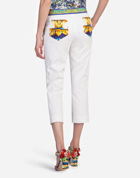 COTTON PANTS WITH MAJOLICA DETAILS