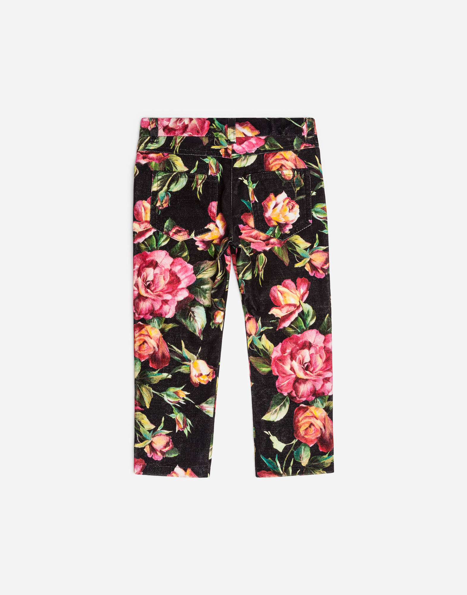 PRINTED STRETCH VELVET PANTS