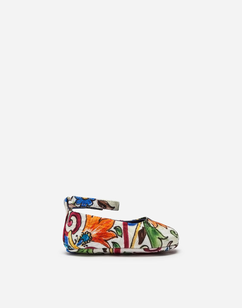 BALLET FLATS IN PRINTED BROCADE