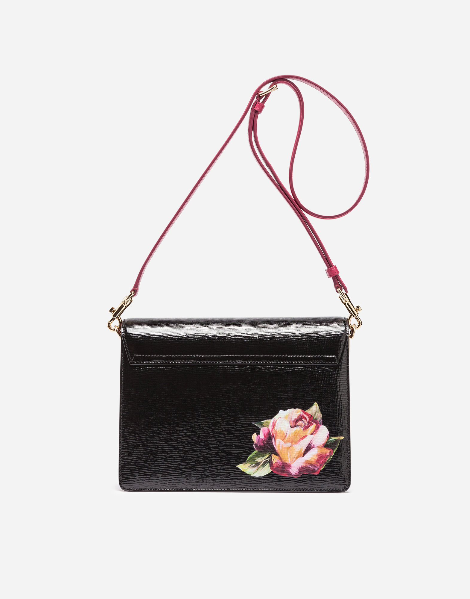 PRINTED LEATHER LUCIA SHOULDER BAG