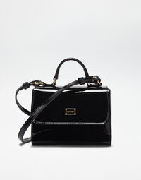 PATENT LEATHER HANDBAG WITH SHOULDER STRAP