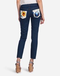 PRETTY FIT JEANS IN STRETCH DENIM WITH MAJOLICA DETAIL