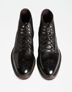 COLORED DIP-COATED LEATHER ANKLE BOOT