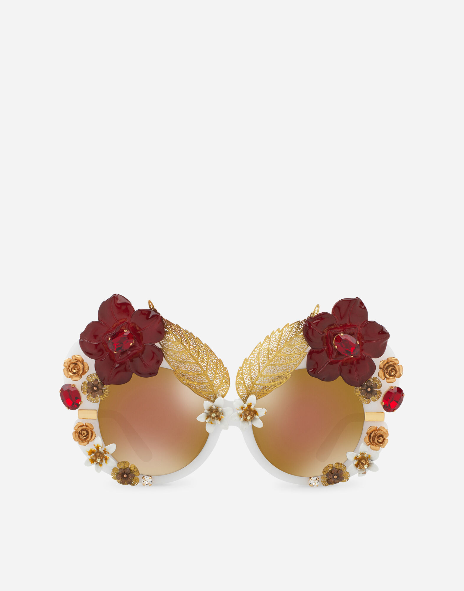 BUTTERFLY SUNGLASSES IN ACETATE AND METAL WITH CRYSTAL DETAILS