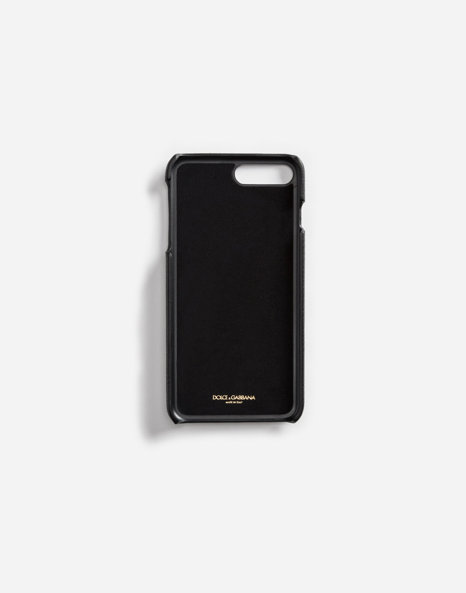 LEATHER IPHONE 7 PLUS COVER WITH PATCHES OF THE DESIGNERS