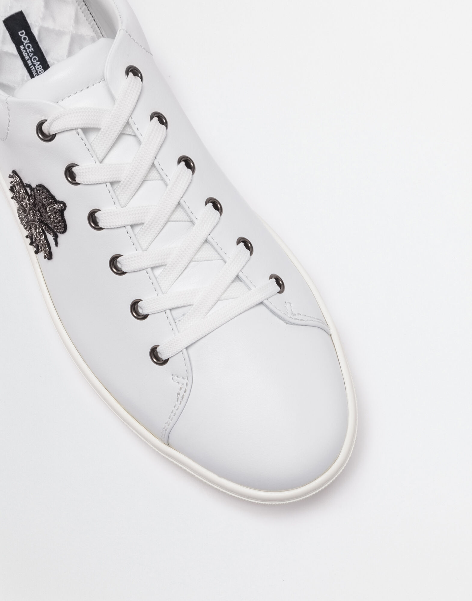 LONDON EMBROIDERED LEATHER SNEAKERS