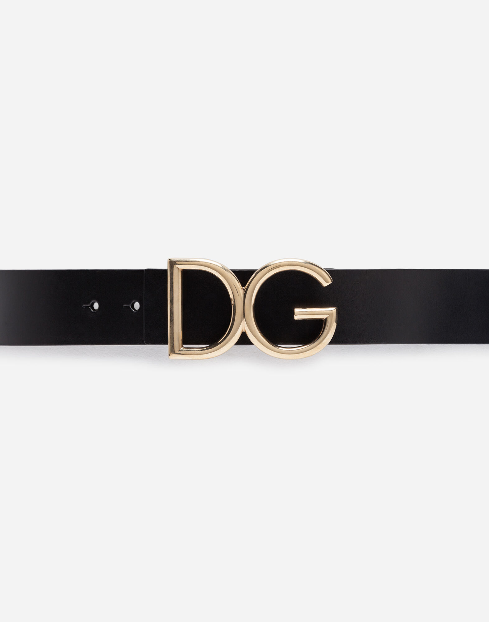 BELT IN LEATHER WITH LOGOED PLATE