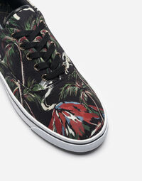 SNEAKERS IN PRINTED CANVAS
