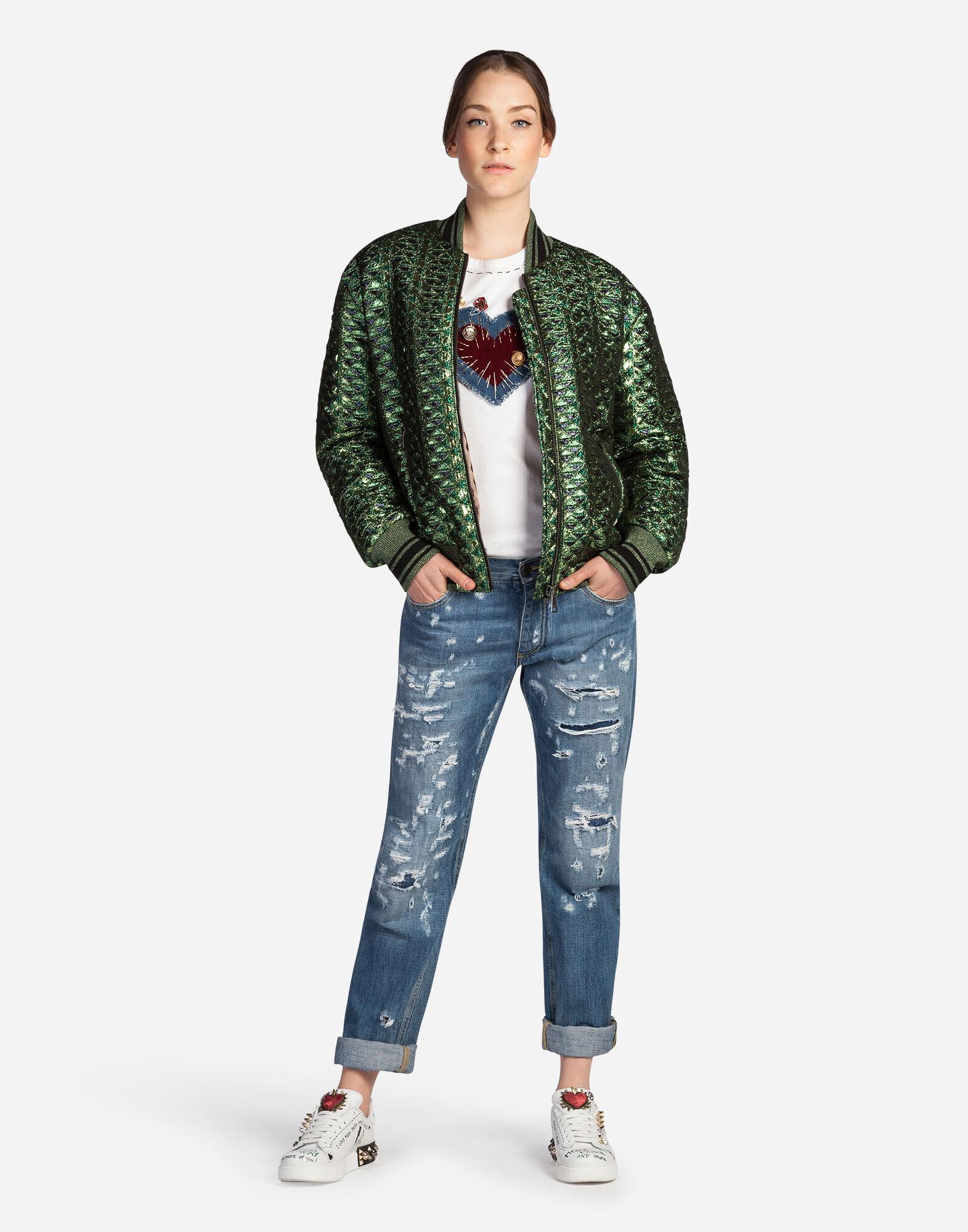 Dolce&Gabbana JACQUARD BOMBER JACKET