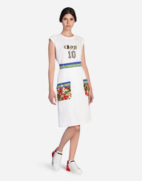 SKIRT IN COTTON WITH MAJOLICA DETAILS