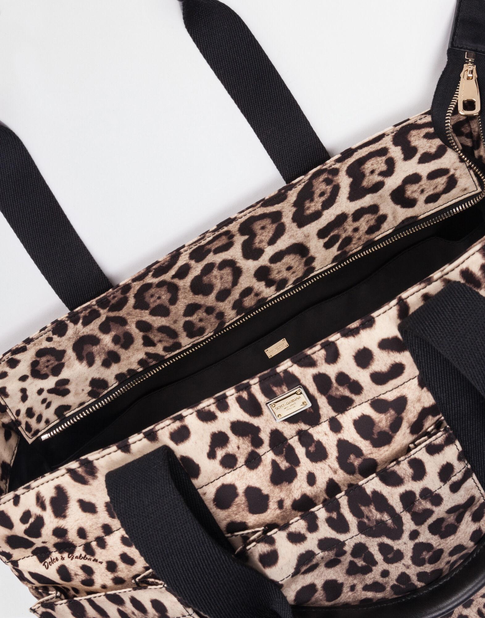 NYLON NAPPY BAG WITH LEO PRINT