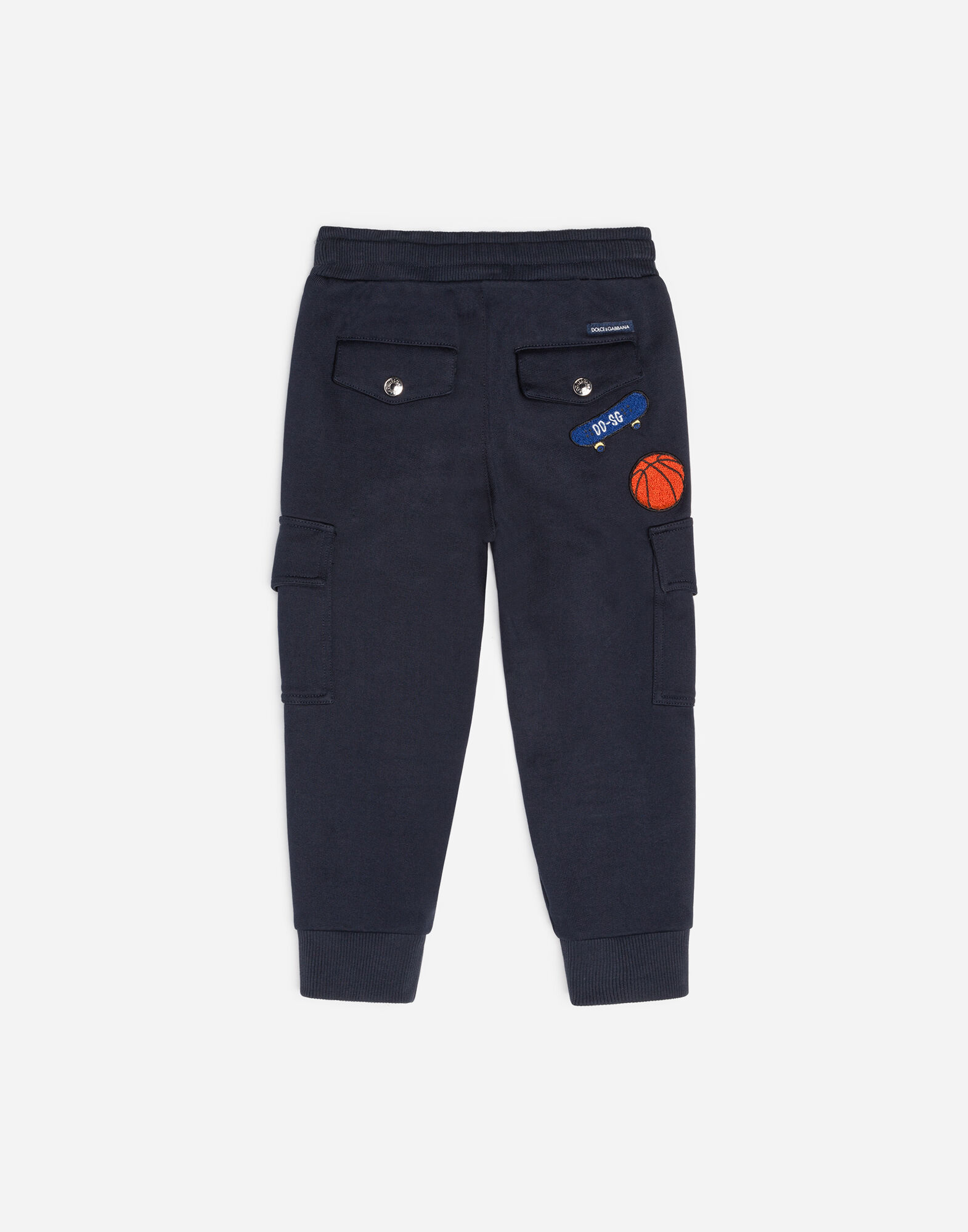 COTTON CARGO PANTS WITH PATCH