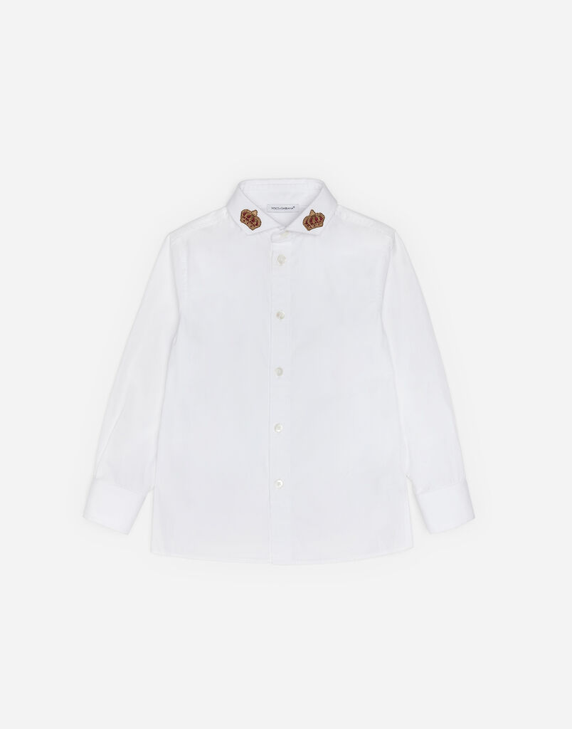 COTTON SHIRT WITH PATCH