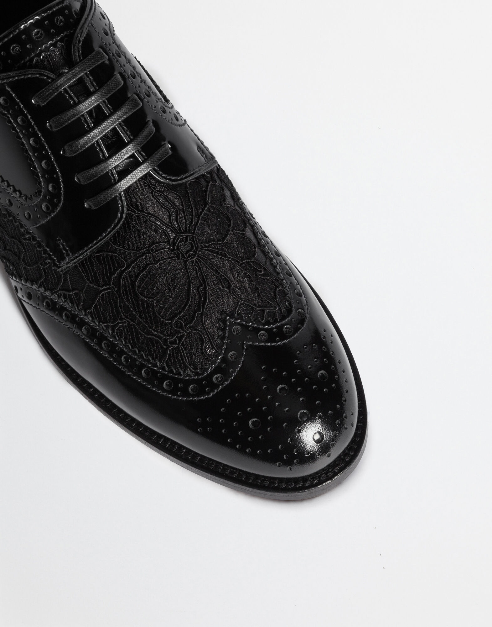 LEATHER DERBY SHOE WITH LACE DETAIL