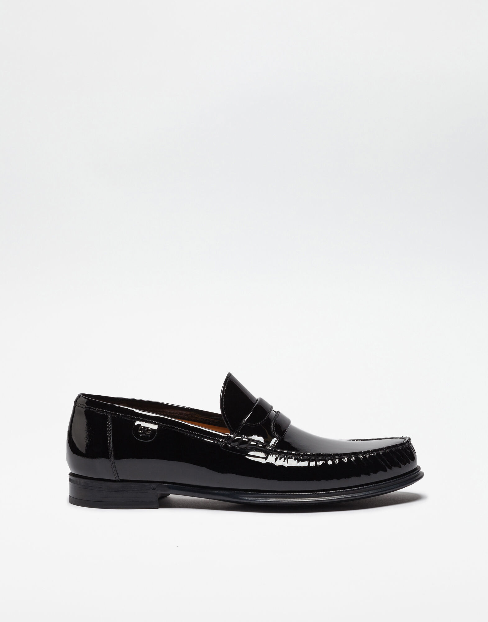 PATENT LEATHER MOCASSINS