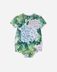 PRINTED COTTON ROMPER SUIT