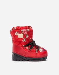 PRINTED NYLON SNOW BOOTS