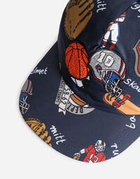 PRINTED CANVAS BASEBALL CAP