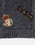 WOOL SCARF WITH PATCH