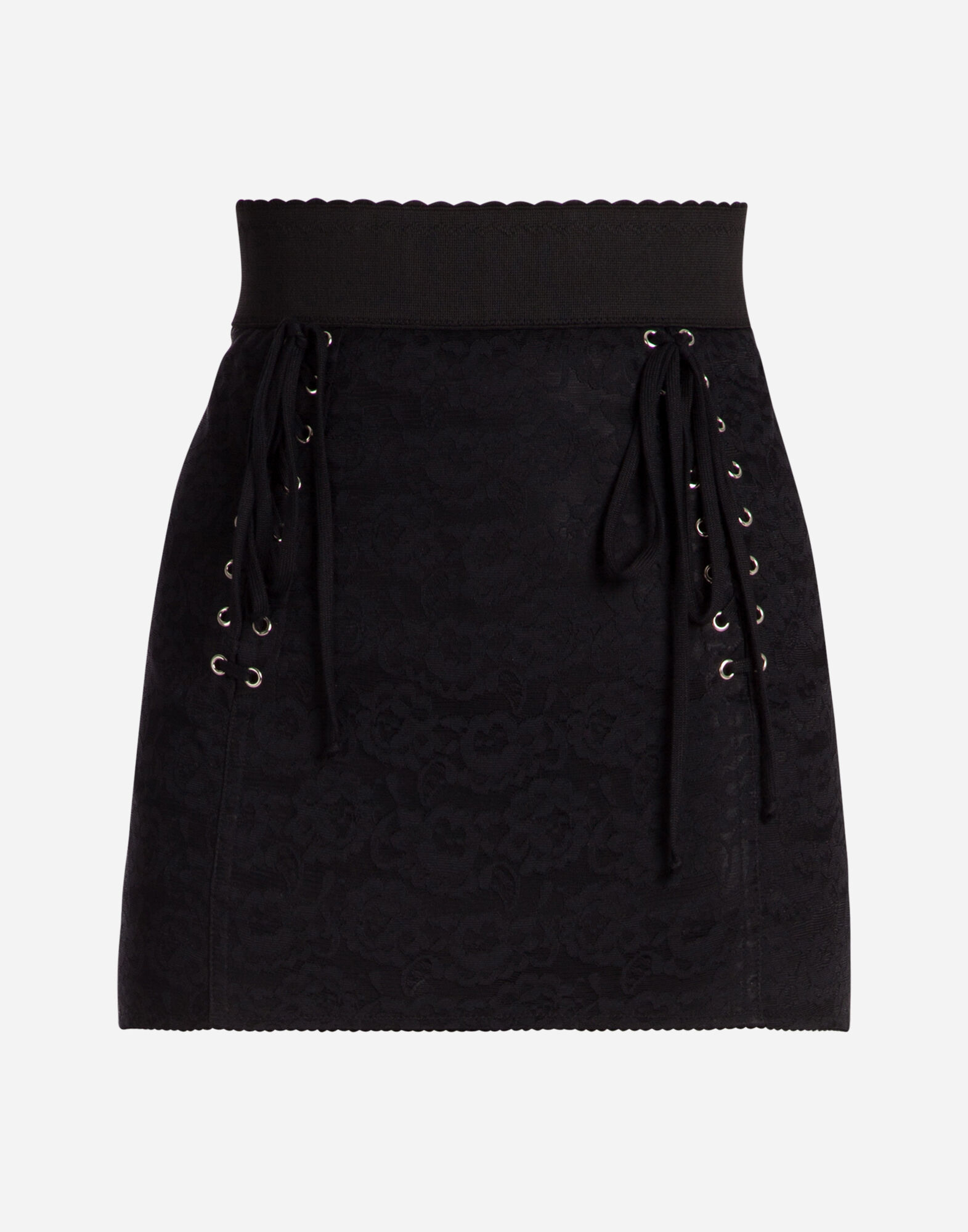 SHORT SKIRT WITH CORSET DETAILS