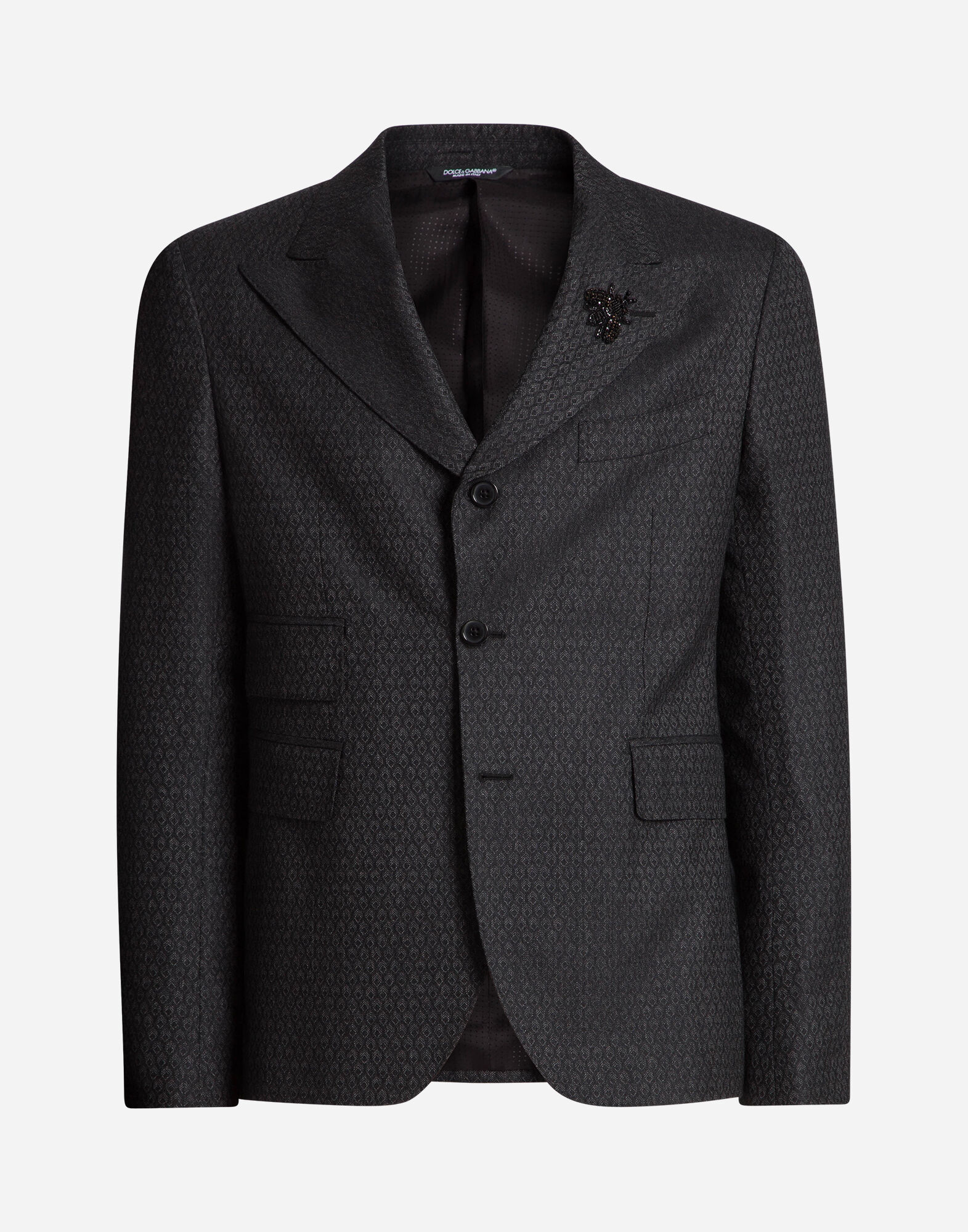 TWO PIECE SUIT IN WOOL WITH PATCH