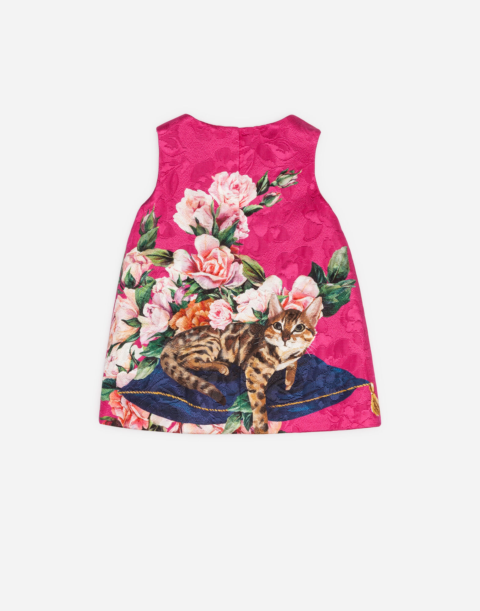 Dolce&Gabbana PRINTED BROCADE A-LINE DRESS WITH BLOOMERS