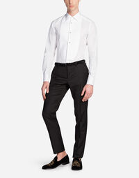 GOLD FIT TUXEDO SHIRT IN COTTON POPLIN