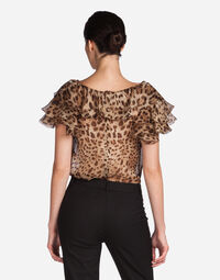 Dolce&Gabbana PRINTED SILK TOP