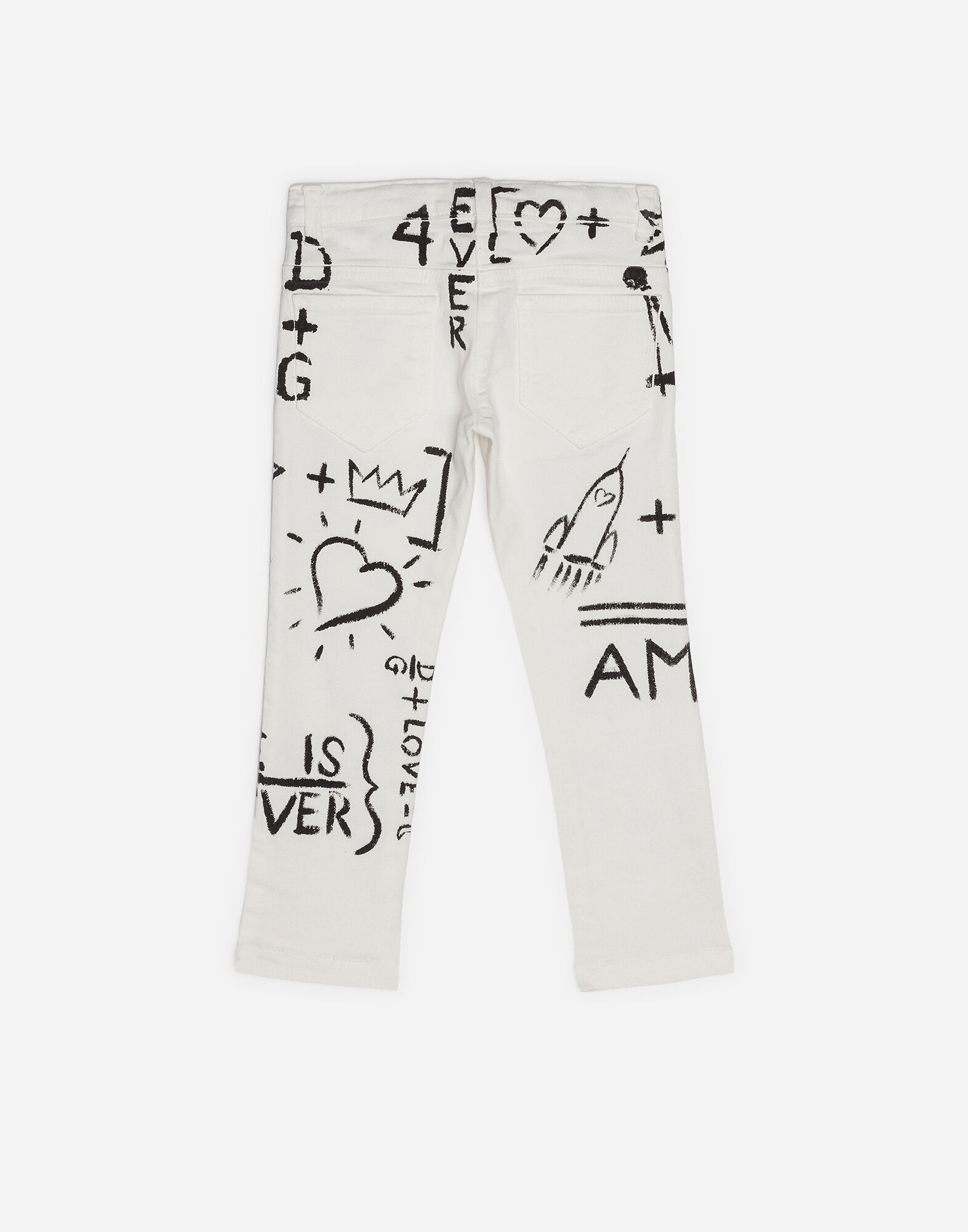 PRINTED STRETCH JEANS