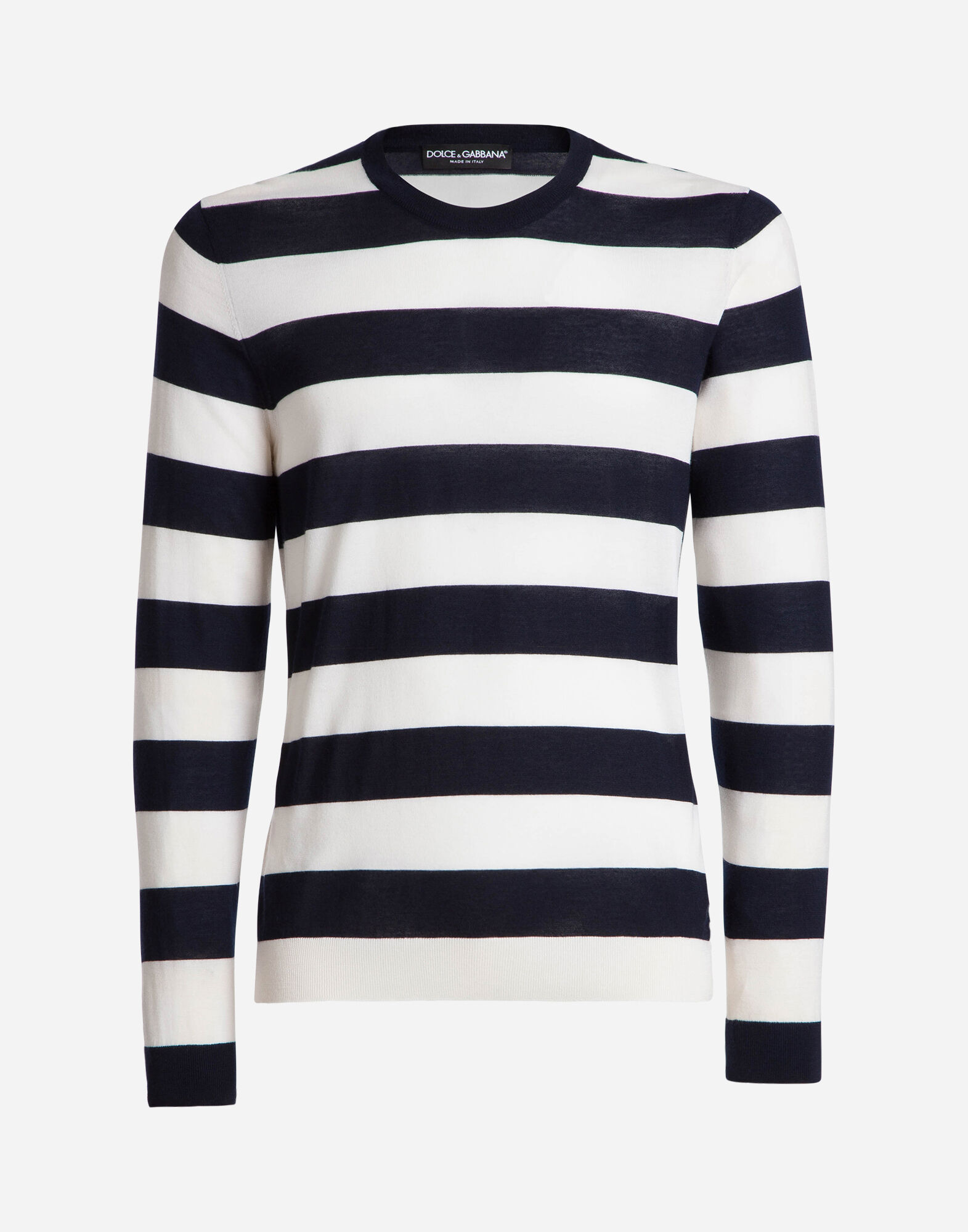 JERSEY IN STRIPED CASHMERE