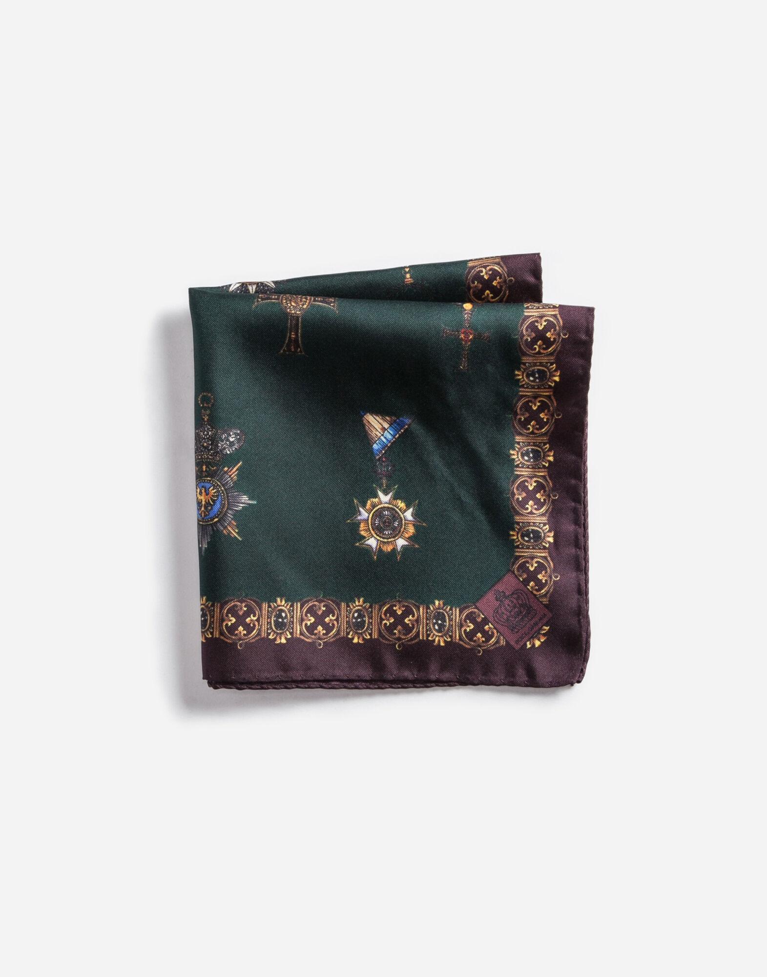 Dolce&Gabbana PRINTED SILK POCKET SQUARE