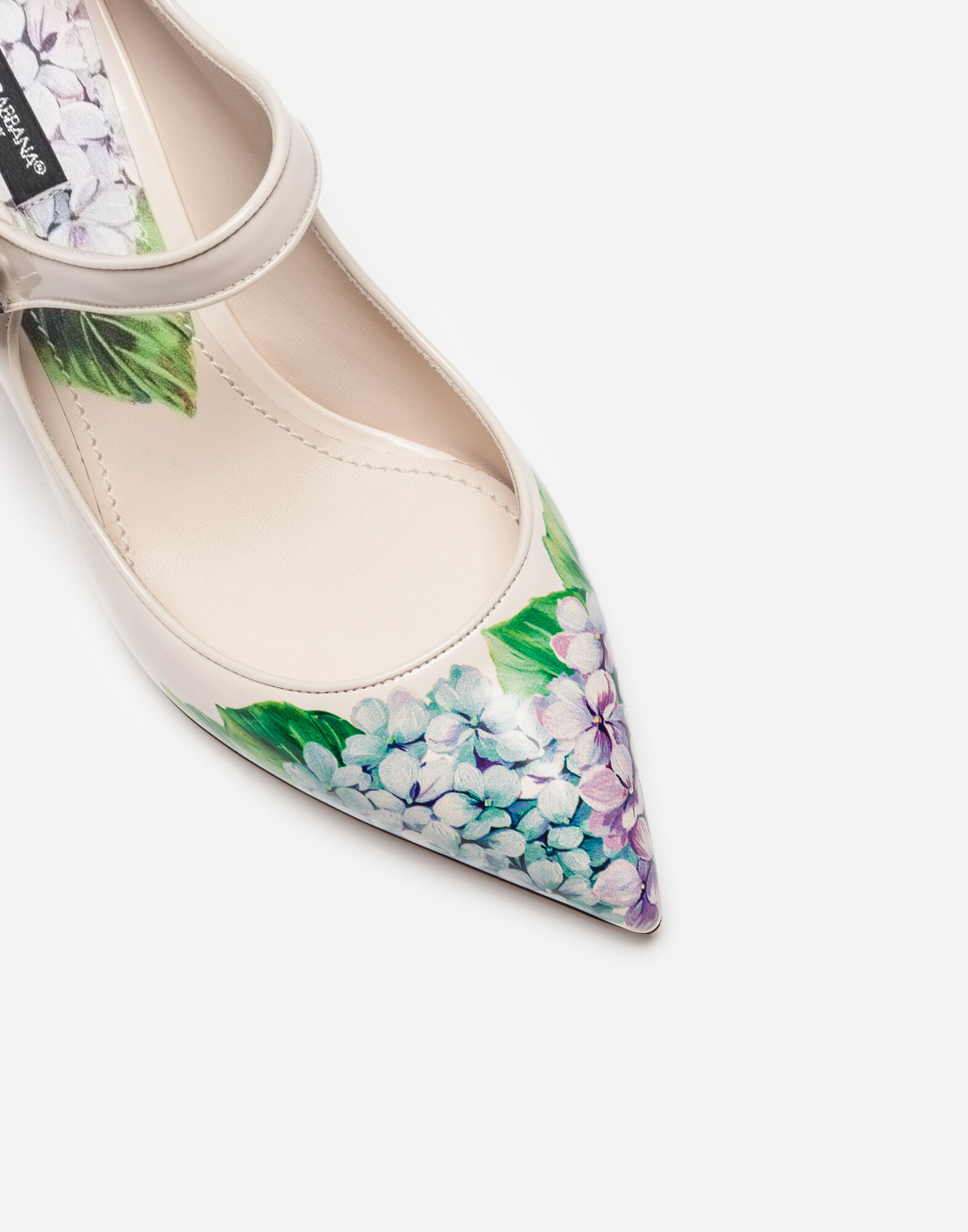 PRINTED LEATHER MARY JANES