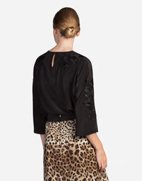 Dolce&Gabbana SILK TOP WITH EMBROIDERY
