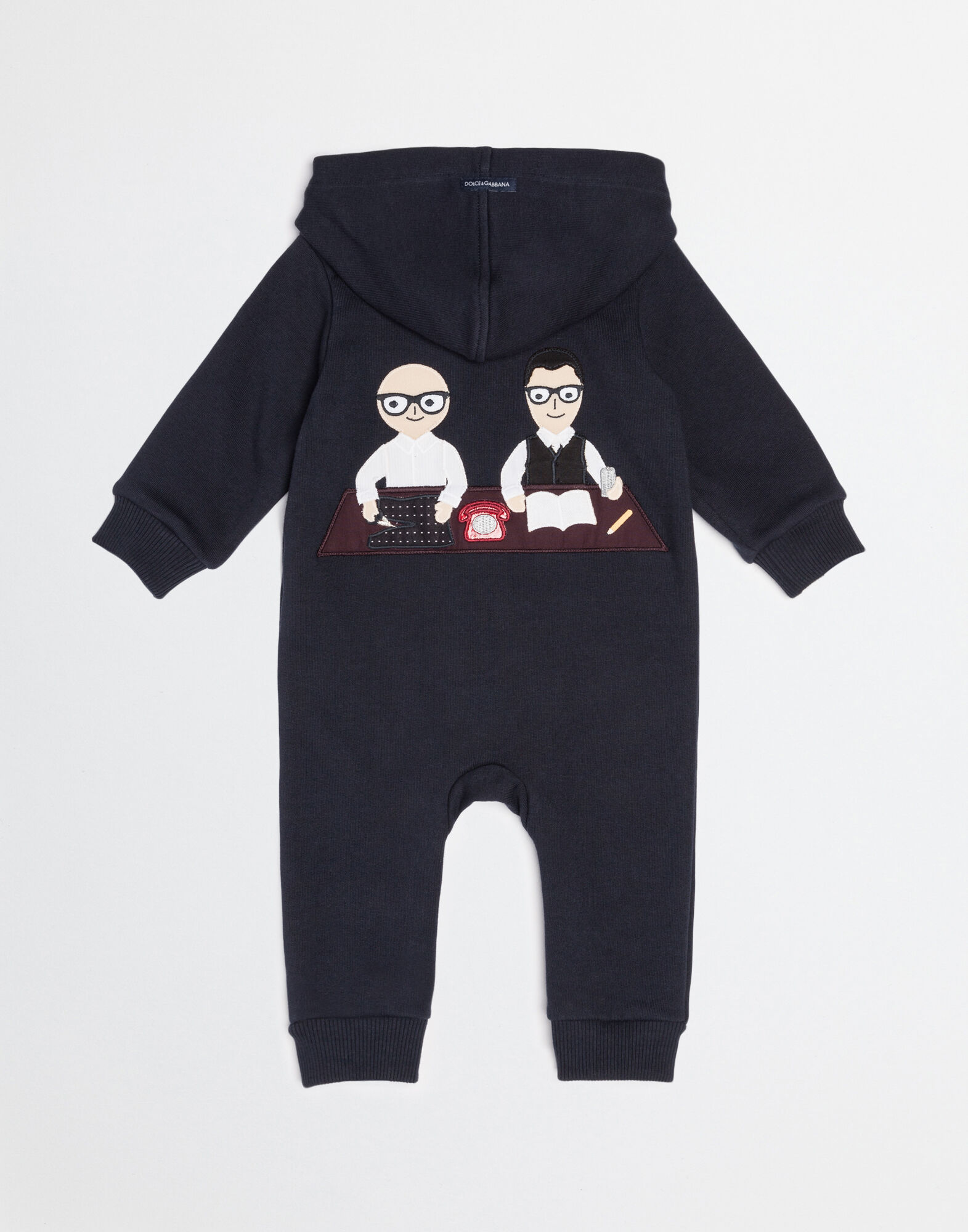 Dolce&Gabbana COTTON BABYGROW WITH DESIGNERS PATCH