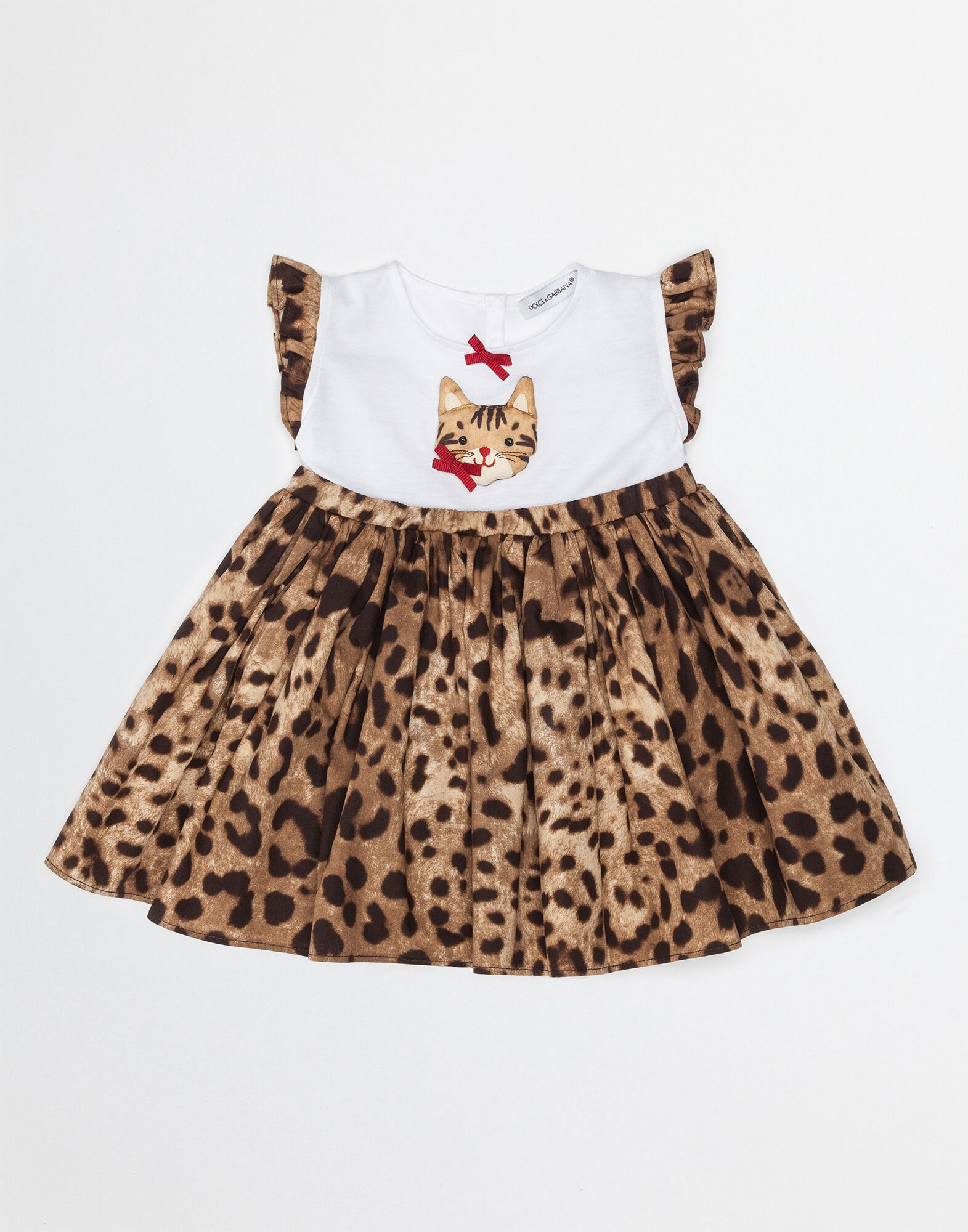 COTTON DRESS WITH ZAMBIA PATCH AND BLOOMERS