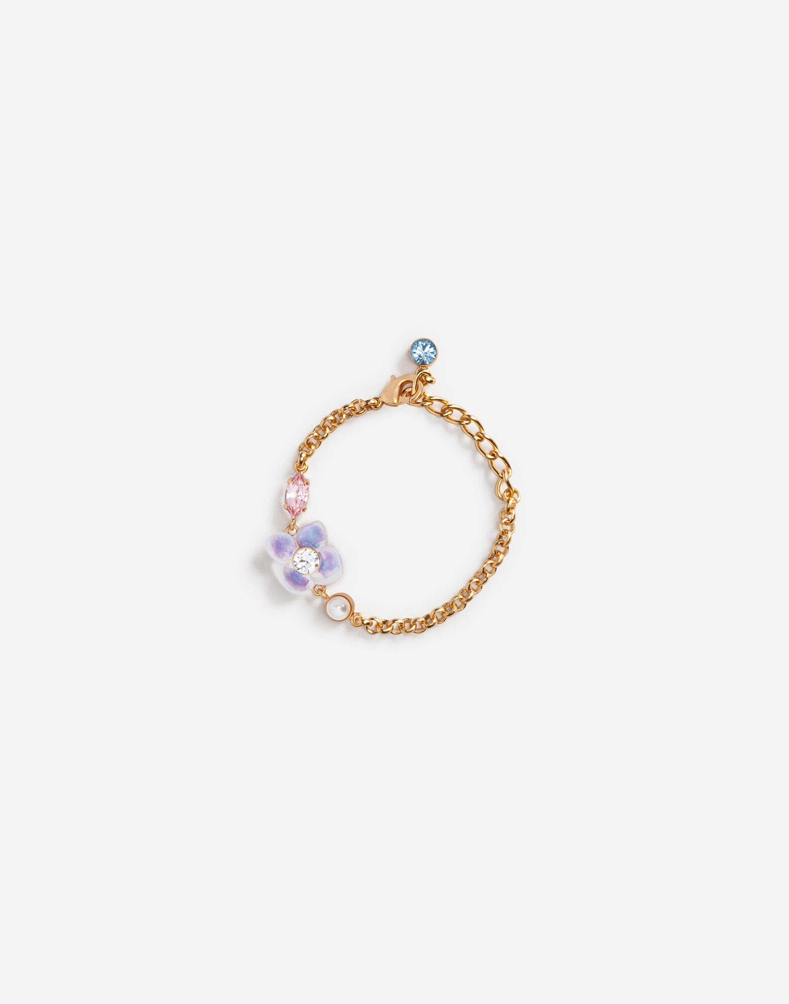 BRACELET WITH DECORATIVE BEJEWELED ACCENTS