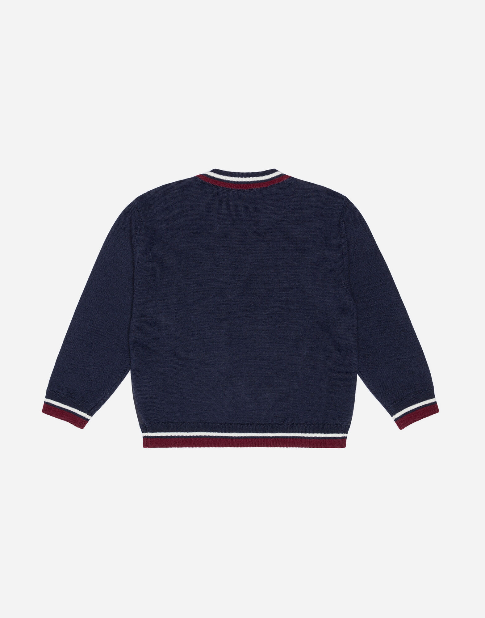 WOOL SWEATER WITH PANEL