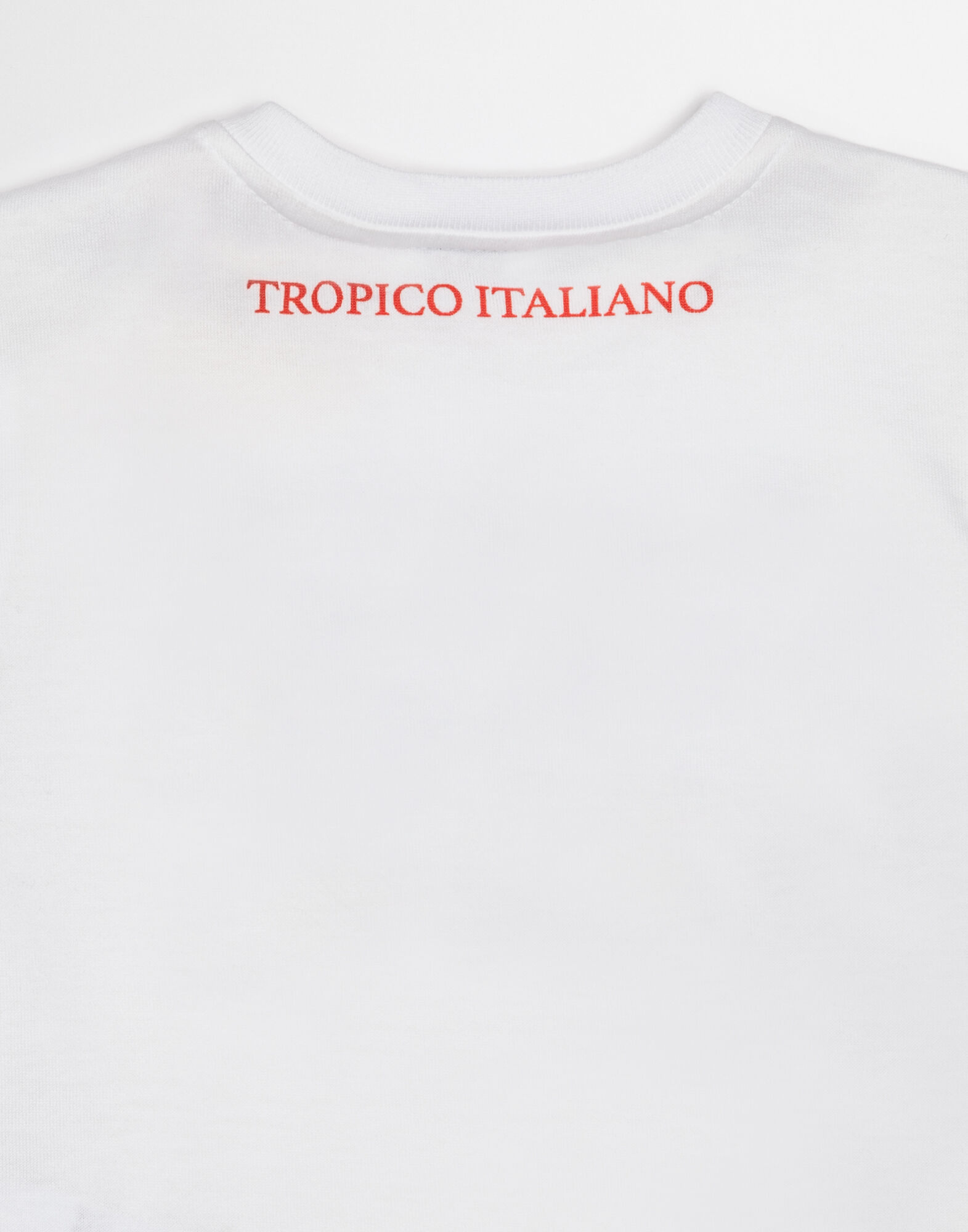 "T-SHIRT WITH ""IO C'ERO"" PRINT IN ITALIAN"