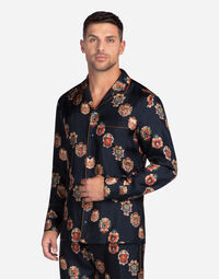 PRINTED SILK PAJAMA SHIRT