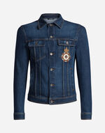DENIM JACKET WITH PATCH