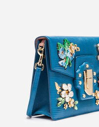 LUCIA SHOULDER BAG WITH BEJEWELED APPLIQUÉ