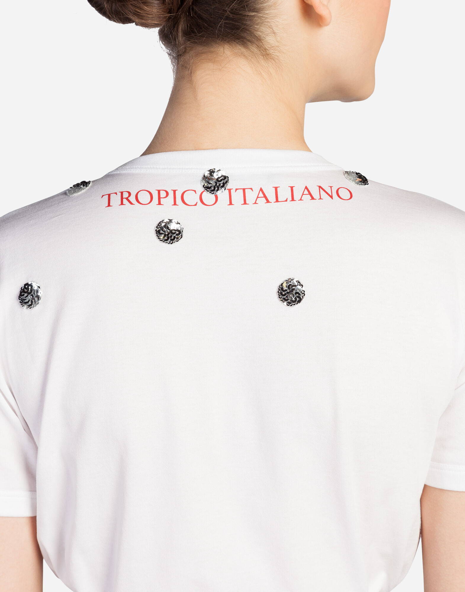 "T-SHIRT WITH ""IO C'ERO"" PRINT IN CHINESE"