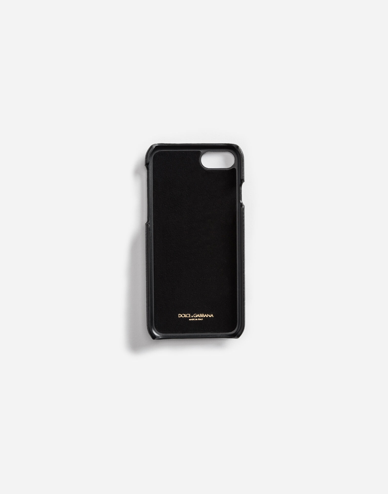 iPHONE 7 COVER IN LEATHER WITH DESIGNERS' PATCHES