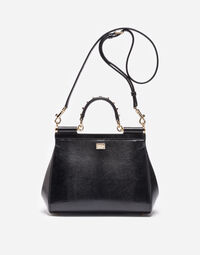Dolce&Gabbana MEDIUM LEATHER SICILY BAG WITH PATCH