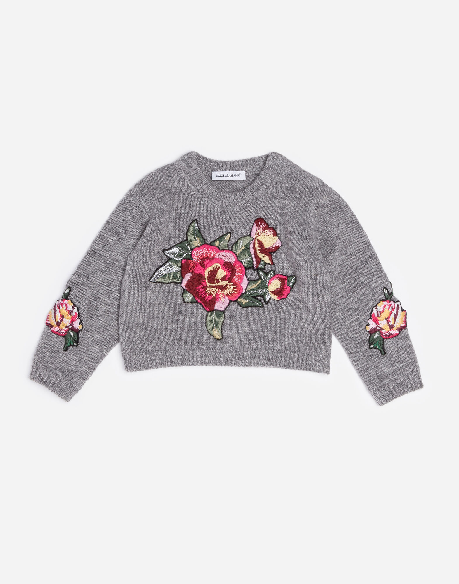 VIRGIN WOOL SWEATER WITH EMBROIDERY