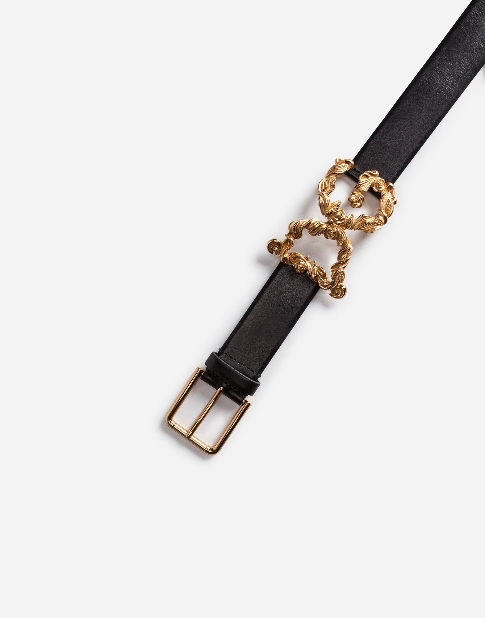 LEATHER BELT WITH LOGO DETAIL