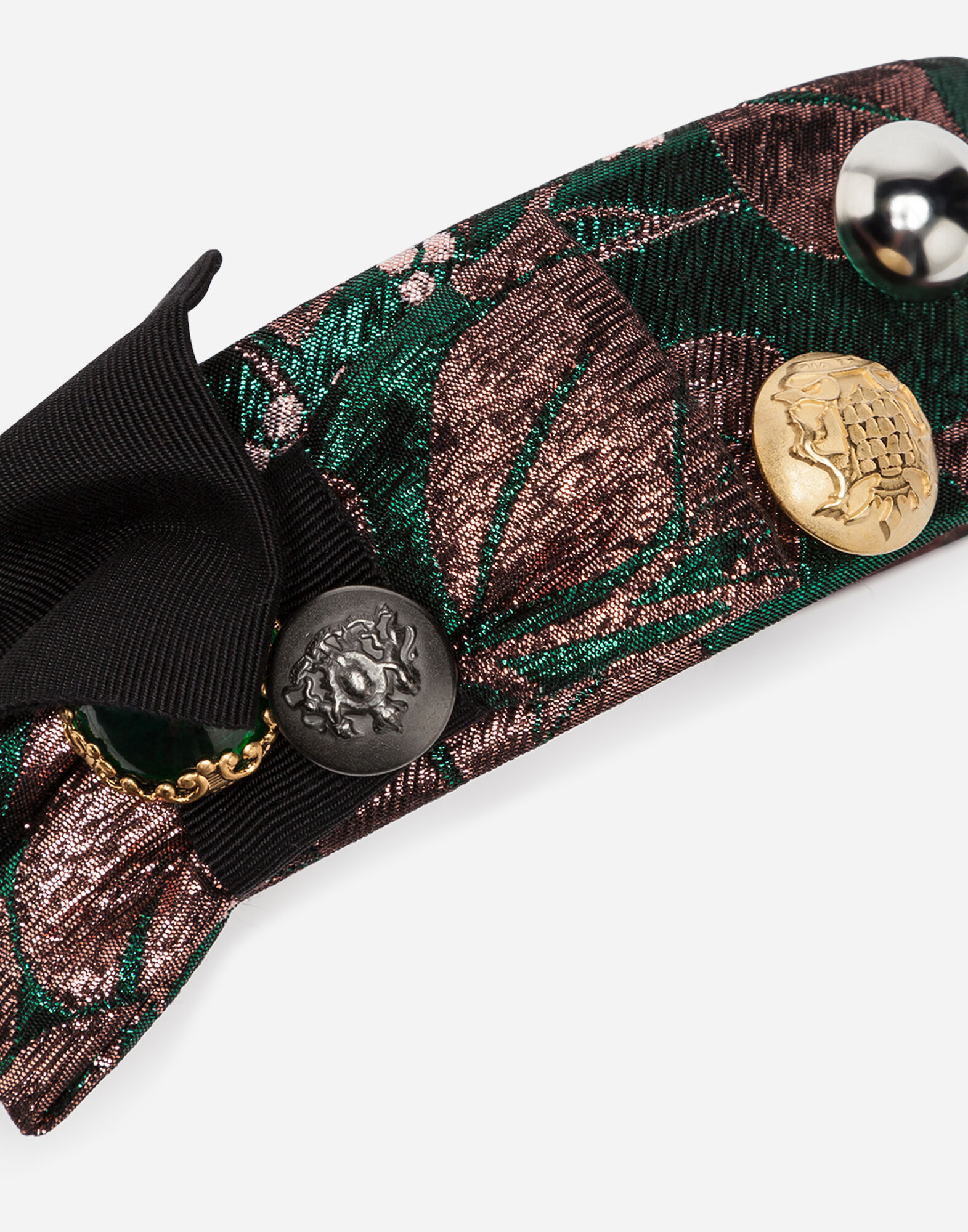 JACQUARD HEADBAND WITH APPLIQUÉ DETAILS